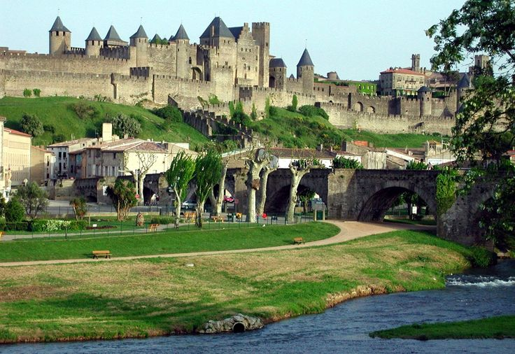 Carcassonne, France Remember seeing this sitting on the hill.  We were in awe.  Drove right to it and down through the tiny little streets in a VW mini van.  Coolest place I have ever been.  Bought a souvenier key chain there.  I was 14 or 15 at the time.
