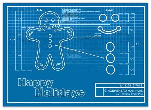 25 best engineering cards images on pinterest engineering gingerbread blueprint card reheart Gallery