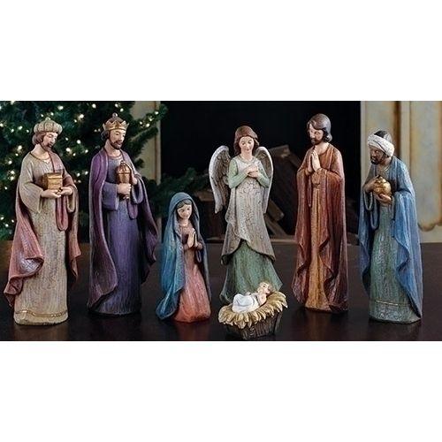 """7-Piece Color 11.5"""" Nativity Figure Set"""