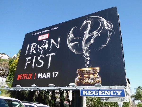 Marvel Iron Fist series billboard