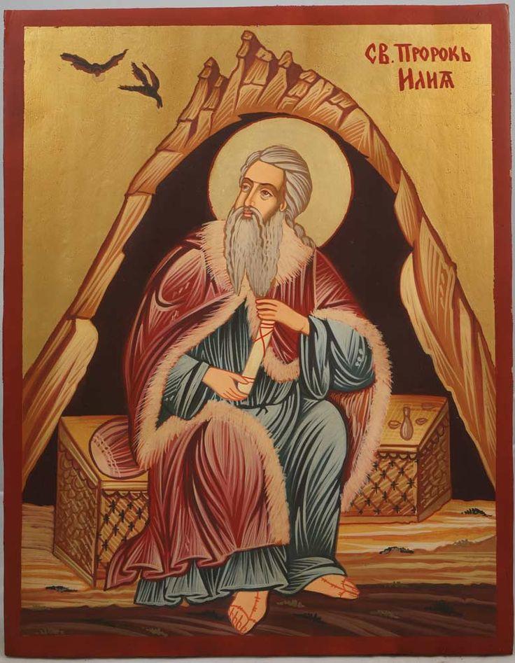Prophet Elias Hand-Painted Byzantine Icon