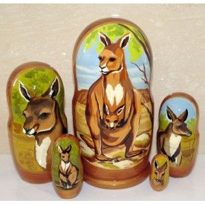 Kangaroo #russiandolls #diy #babushka #matroyshka #handmade #unique #animals #wildlife