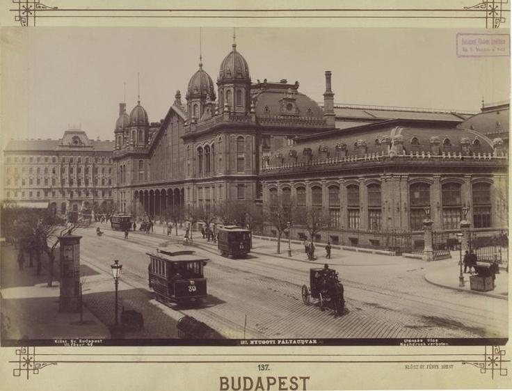 Nyugati (Western) Railway Station, 1890. Photo: György Klösz / Budapest Főváros Levéltára