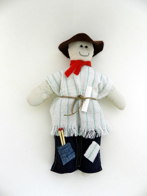 Old Year Rag Doll New Year's Eve Eco Friendly by GiftsWithCharm, $10.00 Muñeco de Año Viejo!!!