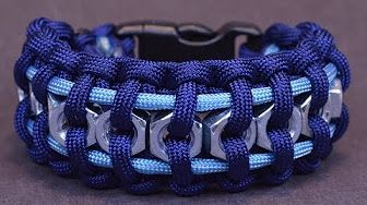How to make a Wide Solomon Paracord Watch Band - YouTube