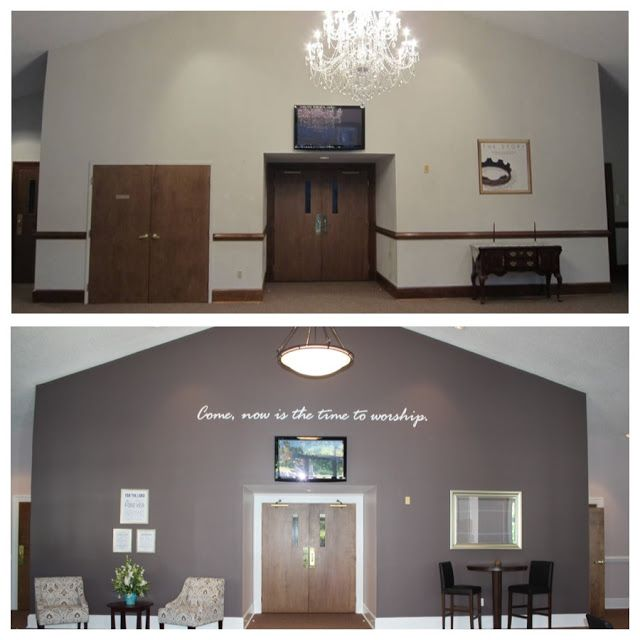 Accent Wall Color For Church Stage: The Whitlock Family: Our Church Foyer