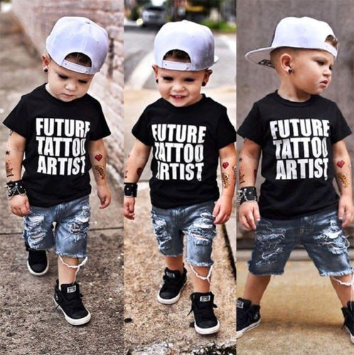 30cddf8e Best Price Summer Toddler Kids Baby Boy Tops T-Shirt Denim Ripped Pants  Jeans Clothes 2Pcs ... #fashion #shirt #shoes #jeans