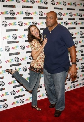Shannon Elizabeth, and Charles Barkley at the 'Ante Up For Africa' charity poker tournament in Las Vegas