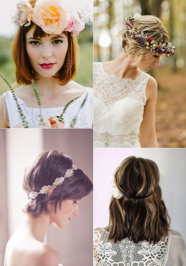 Crown Detailing For A Bride With Short Hair 9 Of The Best Wedding Hairstyles