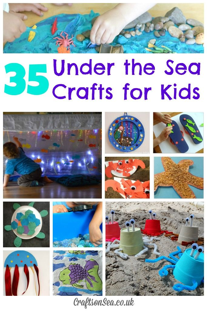 35 Under the Sea Crafts for Kids - Crafts on Sea