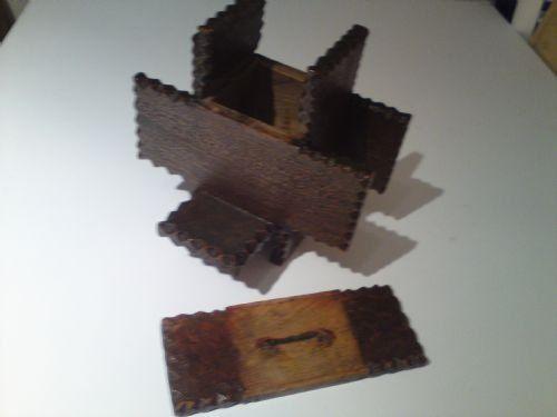 treen money box - photo angle #3