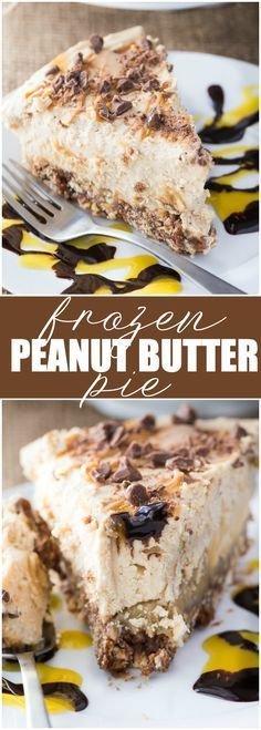 Frozen Peanut Butter Pie - Multiple layers of YUM including a pretzel crust, chocolate layer, caramel layer followed by peanut butter ice cream.