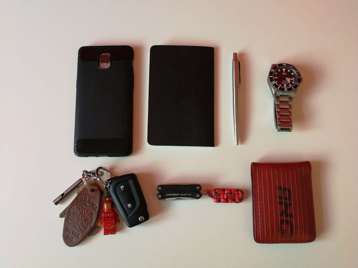 EDC working in IT  submitted by Adam Lee Beadle  OnePlus Three 3 64gb Graphite Factory Unlocked International Version GSM no warranty  Moleskine Cahier Pocket  Parker Jotter Pen  Tudor Pelagos Black Dial Titanium Mens Watch 25600TN-BKTI  Leatherman Squirt PS4  P&co leather keyring  TRUE UTILITY MICRO WHISTLE KEY RING TOOL  Elvis and kresse firehose wallet  OnePlus 3 Case Spigen [Rugged Armor] Resilient [Black] Ultimate protection from drops and impacts for OnePlus 3 (2016) - (K03CS20615)  I…