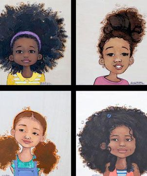 Artist Creates Naturally Beautiful Little Girls in Drawing