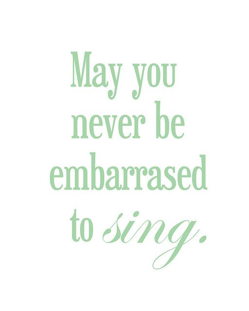 :) so true sometimes I sing to the top of lungs in public but sometimes I'm so embarrassed to sing I say almost nothing at all