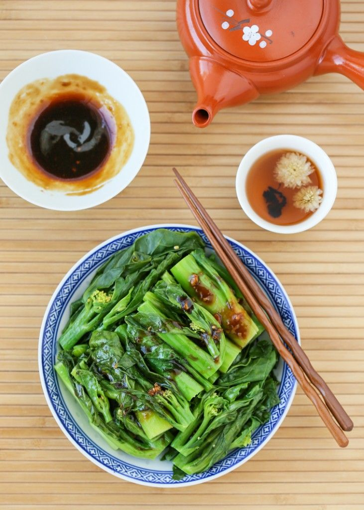 Chinese Broccoli (Gai Lan). With a trick for making sure these veggies stay crunchy and tender every time. So easy and so good!