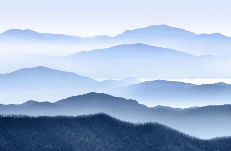 Morning mist in Appalachian Mountains