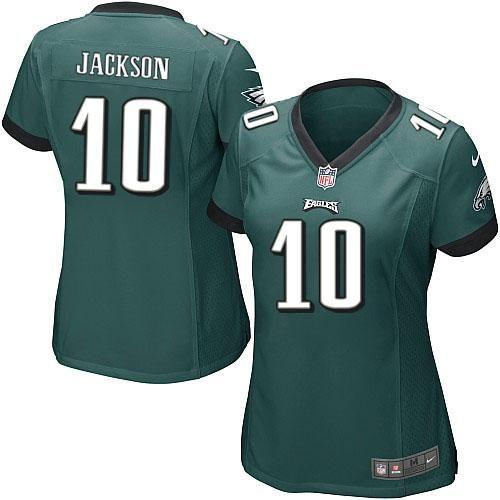 Nike NFL Philadelphia Eagles #10 DeSean Jackson Limited Women Midnight Green Team Color Jersey Sale