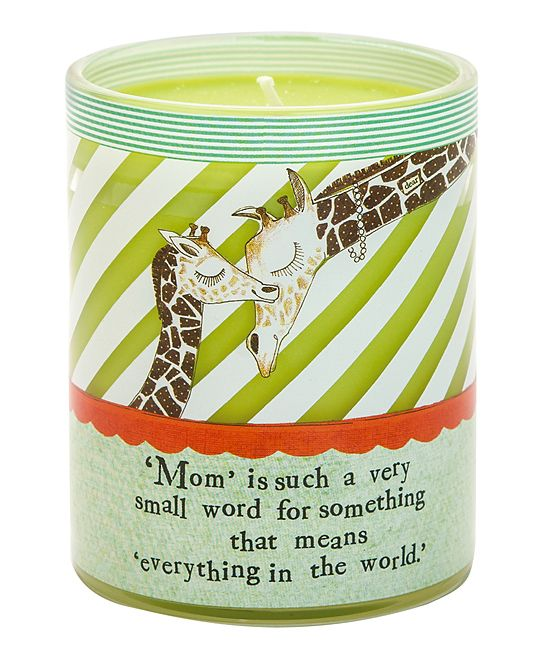 "Beautiful. ""Mom is such a very small world for something that means everything in the world."" :: Candle by Curly Girl Design."