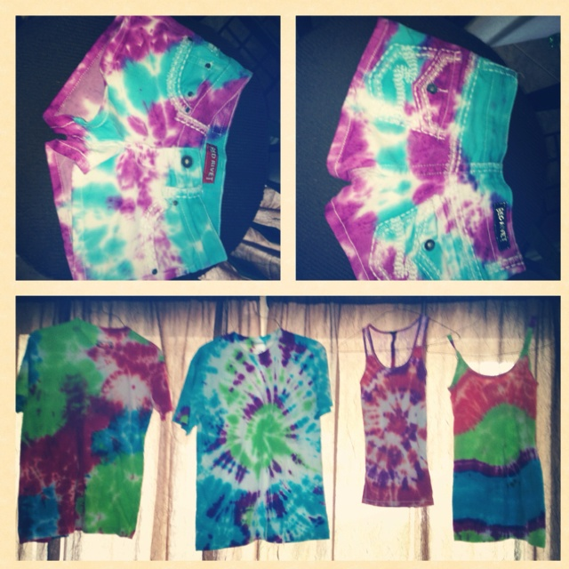 one color tie dye instructions