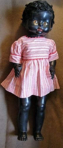 Vintage Black Pedigree Walker Doll - Hard Plastic - Something to Sing About #dollshopsunited