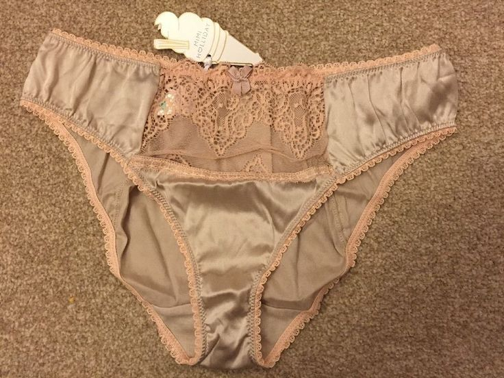 MIMI HOLLIDAY KITTIWAKE Luxury 94%SILK knickers M BNWT RRP£39 NUDEFLASH