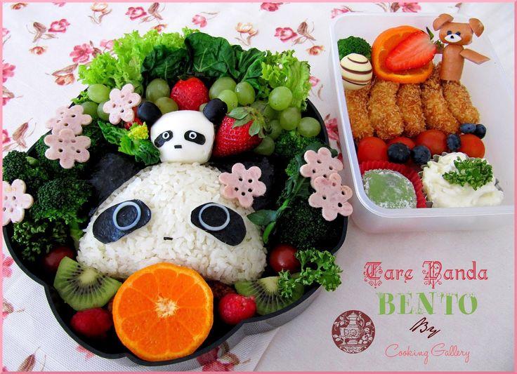 tare panda bento   Panda food. Panda sushi. Bento recipes