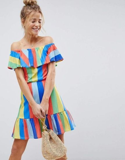 1268fc7aa0 Dress by ASOS Collection, Some serious daytime inspiration right here,  Bardot neck, Invented
