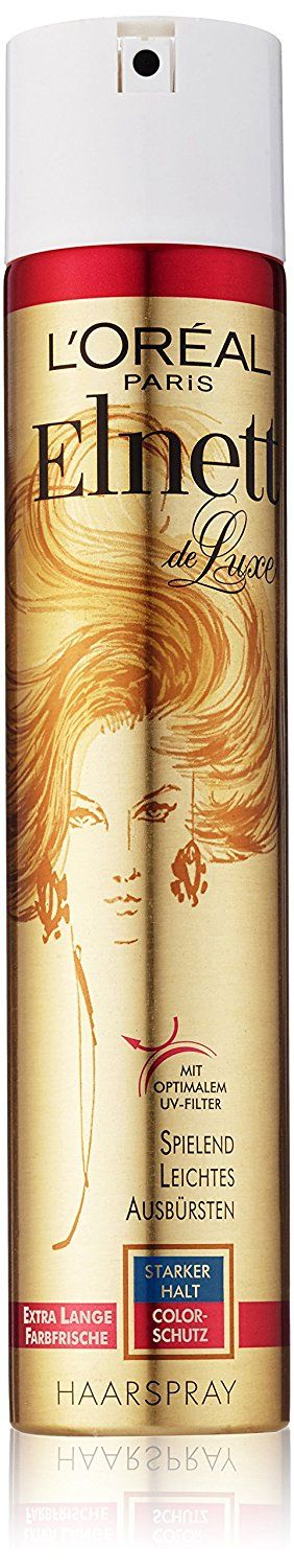 Loreal Paris Elnett de luxe starker halt color schutz extra Lange farbfrische haarspray 300ml, uv filter >>> This is an Amazon Affiliate link. Want to know more, click on the image.