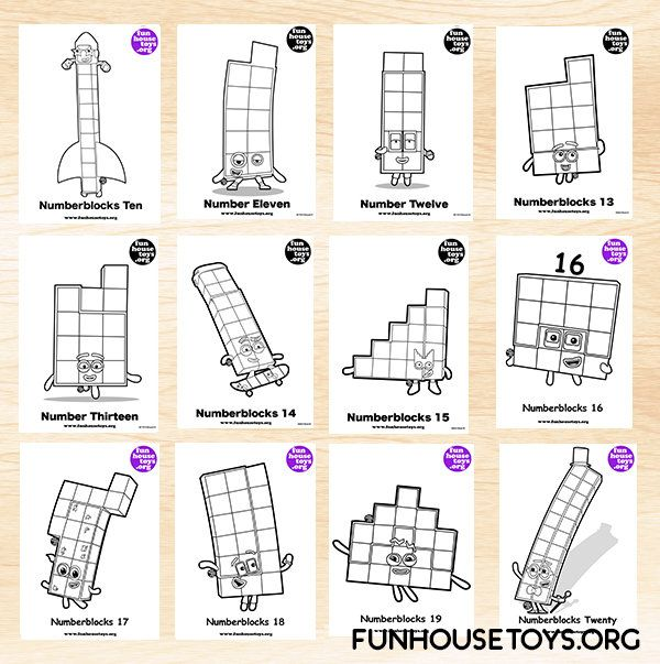 Fun House Toys Numberblocks Coloring Pages Coloring Pages Inspirational Alphabet Activities Preschool