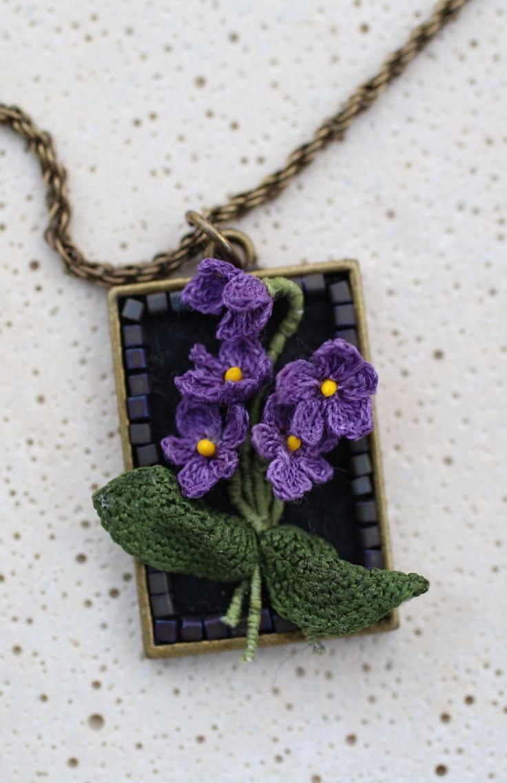 Crochet jewelry. Lora Zaitseva  ༺✿ƬⱤღ✿༻