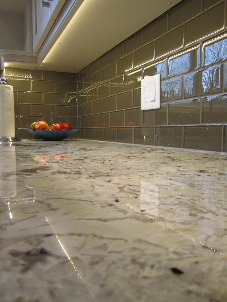 Custom glass tile.