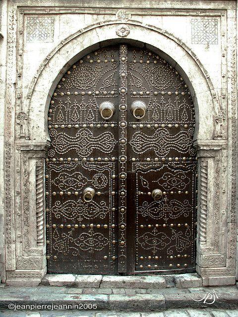 Tunisie portes de sidi bou sa d 682sc by jean pierre for Decoration porte sidi bou said