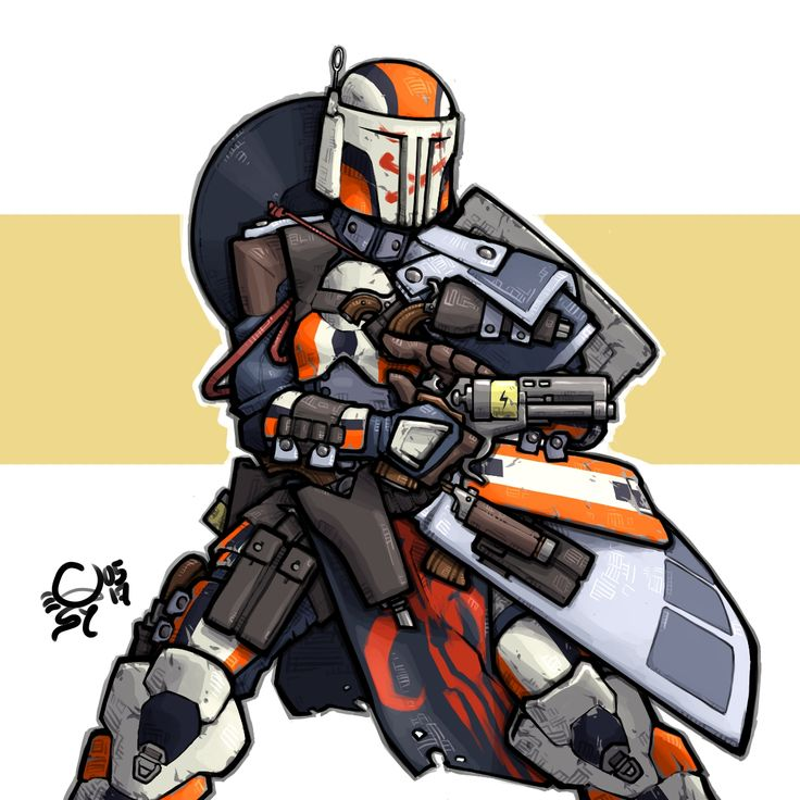 how to draw a mandalorian