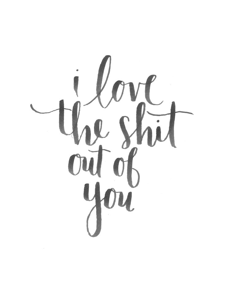 i love the shit out of you - hand lettering https://society6.com/alliegeise