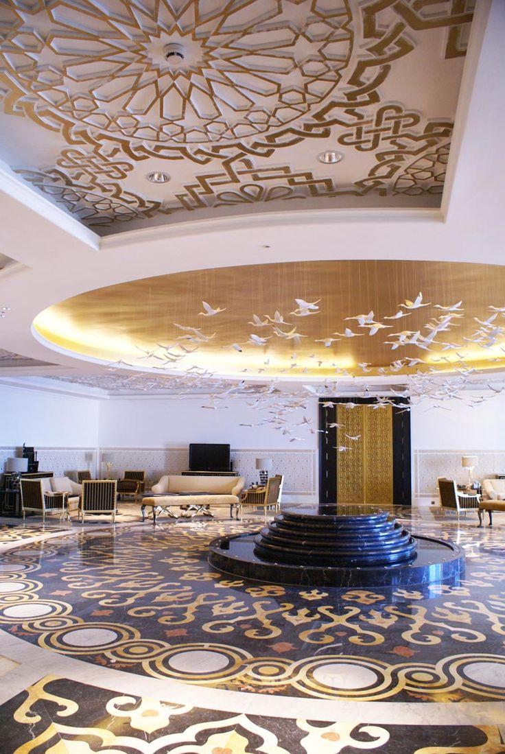sala vip jefes de estado palacio de congreso Oran techos garabato oro
