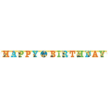 6' Despicable Me Minions Birthday Banner, Multicolor