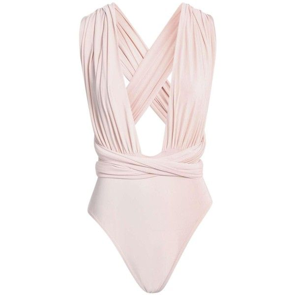 Maggie Multi Way Slinky Bodysuit ($35) ❤ liked on Polyvore featuring intimates, shapewear, bodysuits, tops, body and body suits