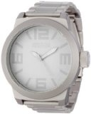 Kenneth Cole REACTION Men's RK3209 Classic Oversized Round Analog Field Watch - Kenneth Cole REACTION Men's RK3209 Classic Oversized Round Analog Field Watch    Solid dependable Japanese Quartz analog movement3-row grey IP stainless steel coated meta