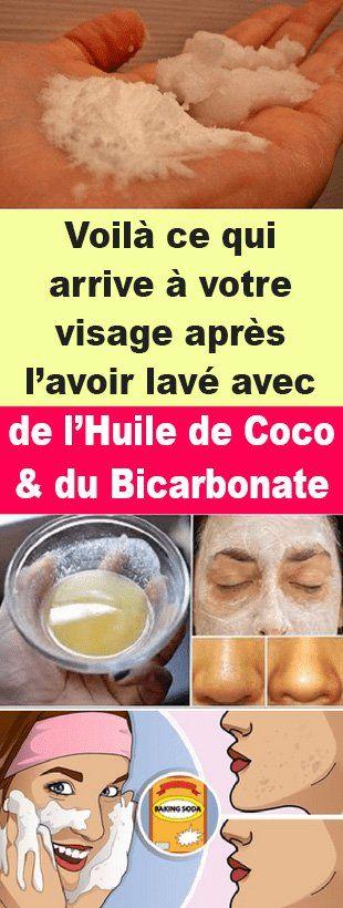 Voilà ce qui arrive à votre visage après l'avoir lavé avec de l'huile de noix de coco et du bicarbonate de soude