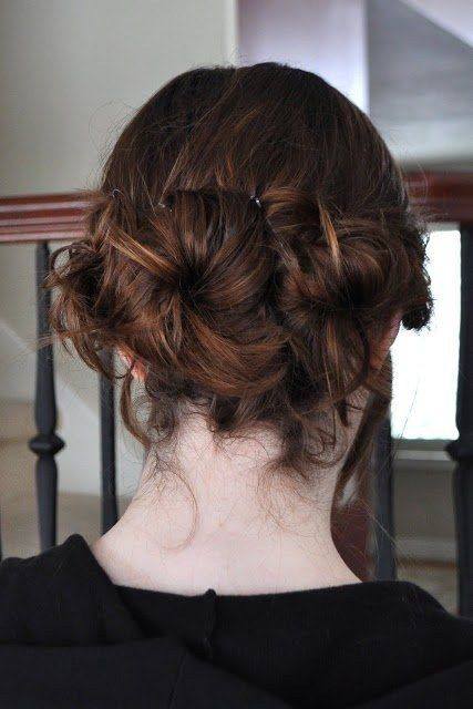 Nestle those buns together to create something interesting. | 21 Ridiculously Easy Hairstyles You Can Do With Spin Pins