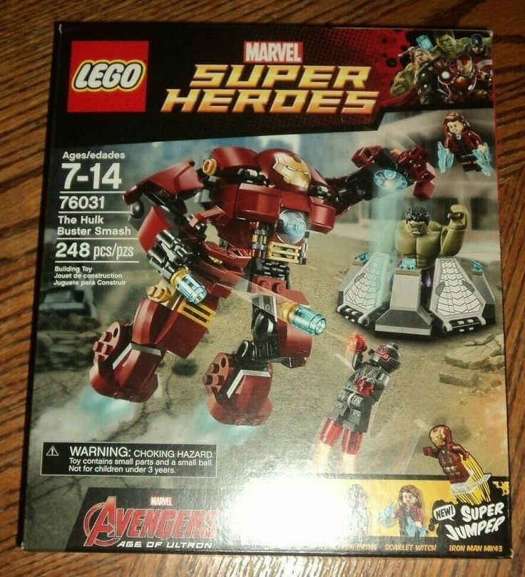 SEALED 76031 LEGO Hulk Buster Smash with Hulk Ironman MK43 248 pc set RETIRED