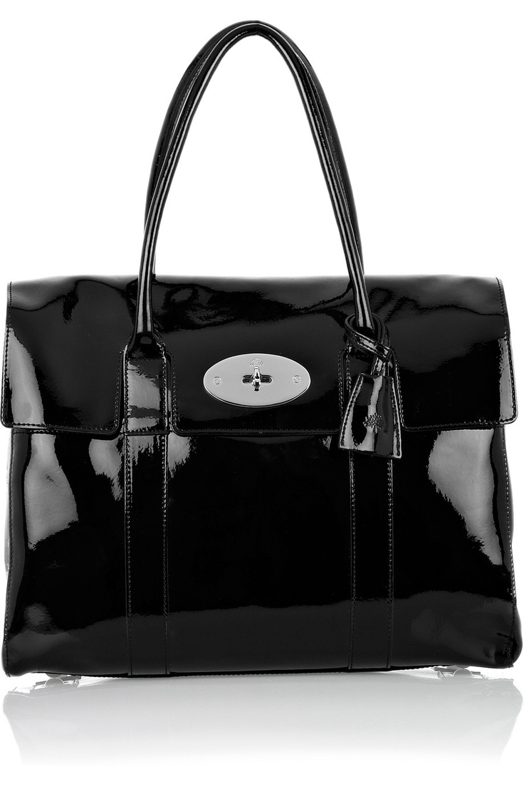 MULBERRY Bayswater patent-leather laptop bag £868 (A Bayswater with a padded pouch pocket for your laptop) Pretty and practical.