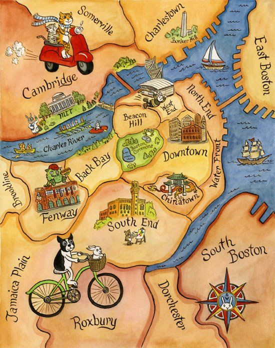 Guide to Boston towns