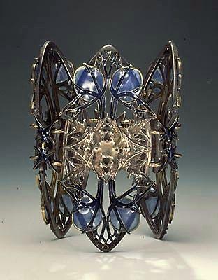 Rene Lalique thistle bracelet
