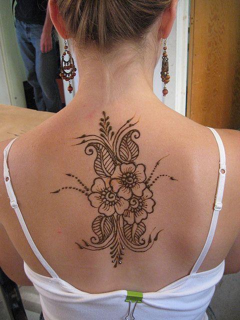 henna tattoo designs back neck. Black Bedroom Furniture Sets. Home Design Ideas