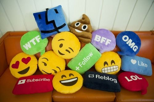 They come in pillows now... #emojis