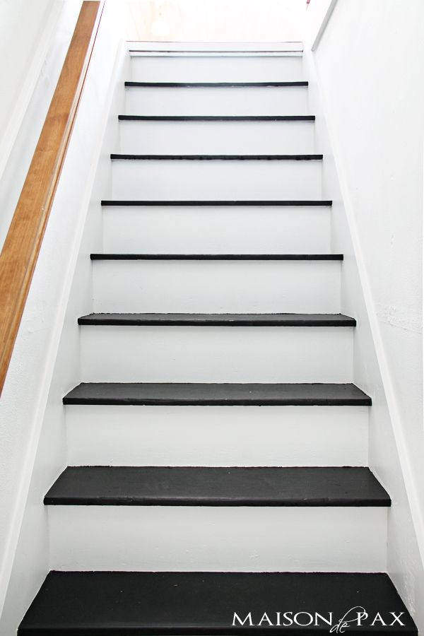 Best 25 Black and white stairs ideas on Pinterest Black  : b63c85db598a8fede9dd59aa3c0ca882 paint stairs painting stairs black from www.pinterest.com size 600 x 900 jpeg 48kB