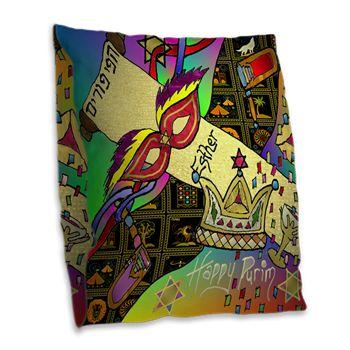 Judaica #Purim #Esther #Jewish Celebration #Art Print  Burlap #Throw Pillow