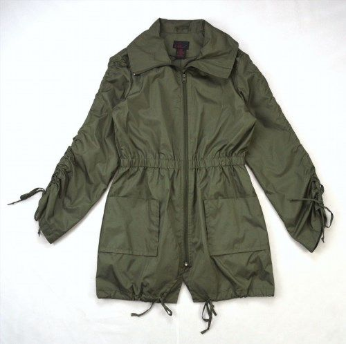 48.50$  Buy now - http://violw.justgood.pw/vig/item.php?t=t0pleg50824 - Olive Green Military Industrial Style Fitted Trench Duster Windbreaker Jacket M 48.50$